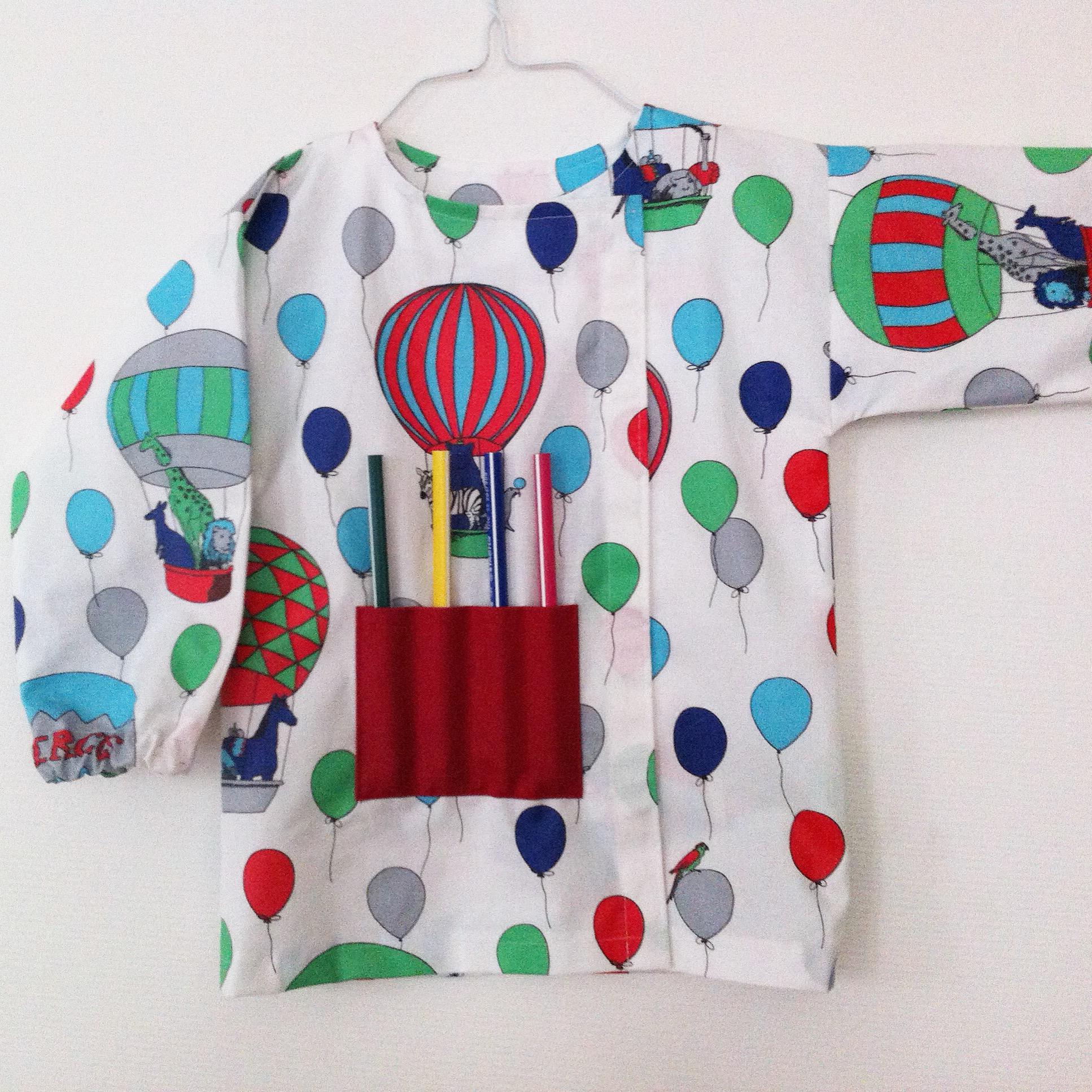Aiguille en fête 2017 inspiration couture blouse de peinture enfant coton enduit