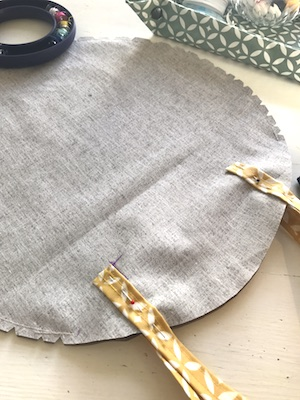 Gratuit Tuto couture débutante sac rond en coton enduit