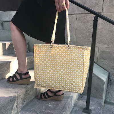 Tuto couture sac gratuit sac a main coton enduit - Tuto sac a main ...